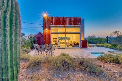 Small House For Sale Arizona Tiny Desert Cube House Has Everything You Need For 275k