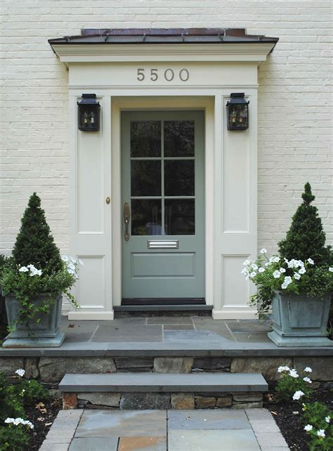Exterior Door Surrounds Exterior Door Surround Ideas Front Door Lanterns Are From Mclean Lighting Jardinieres