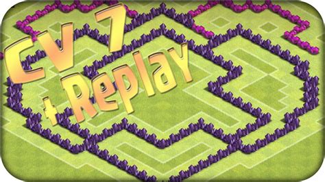 layout iniciante cv 7 clash of clans layout para cv 7 defesa trof 233 u replay