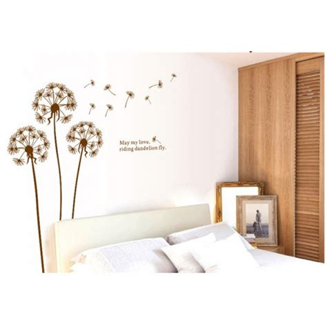 size wall stickers dandelion wall sticker 130x120cm size ay695