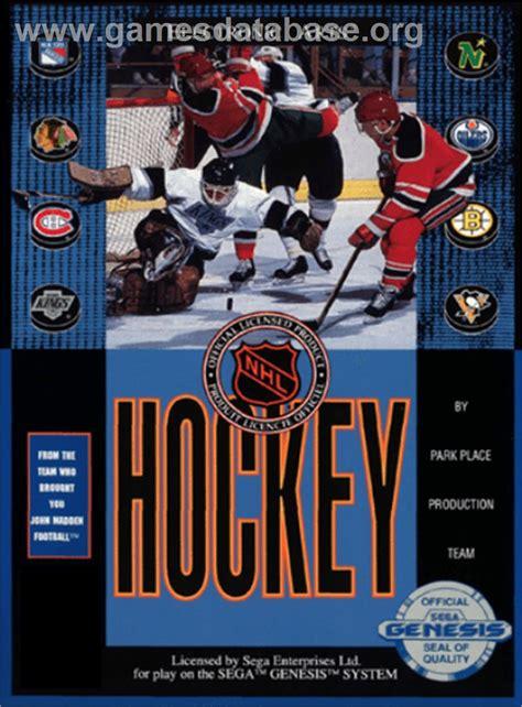 sega genesis hockey nhl hockey sega genesis database