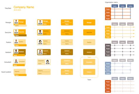 organized layout of elements design elements organizational chart management 25