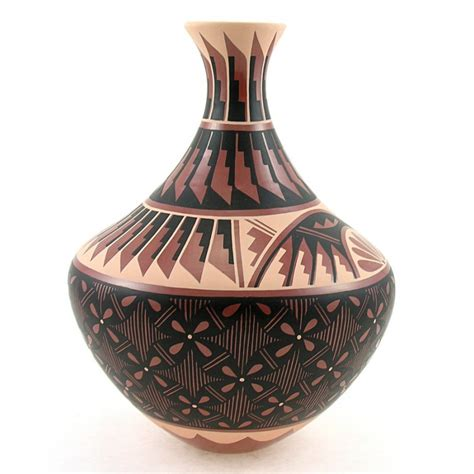 Indian Vases by American Indian Pottery Vase By N Sandia Jemez