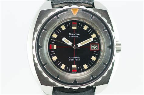 bulova dive second time ticking bulova snorkel 666 automatic diver