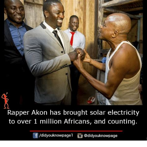 Rapper Akon Has Three rapper akon has brought solar electricity to 1