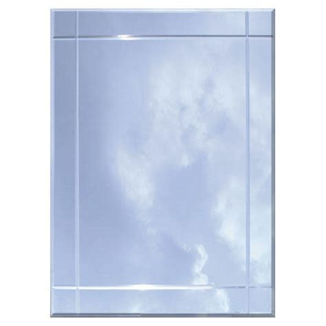 Groove Steel Medicine Cabinet With Beveled Glass Bathroom