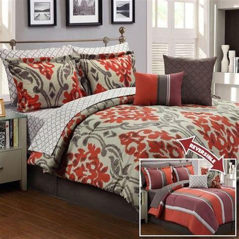 rust bedding comforter sets walker 10 piece reversible comforter set rust 49 99 in