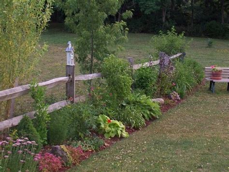 split rail fence and landscaping outdoor projects