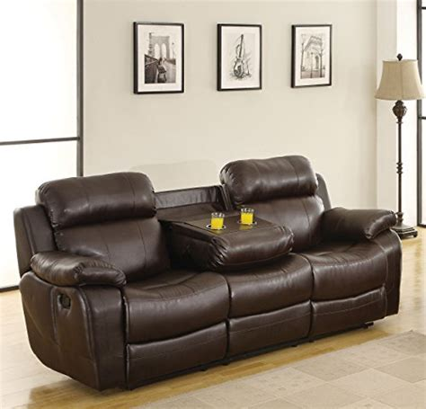 bonded leather sofa reviews product reviews buy homelegance marille reclining sofa w