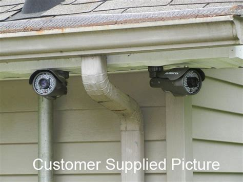 running security camera wires into house outdoor security camera wiring how to hide wires on outside of house