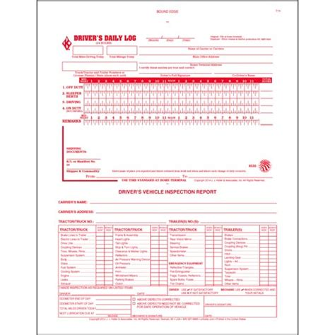 the log book getting 2 in 1 driver s daily log book w detailed dvir 2 ply carbonless no recap stock