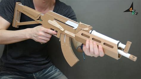 How To Make A Paper Wars Gun - how to make ak 47 that shoots bullets cardboard gun diy