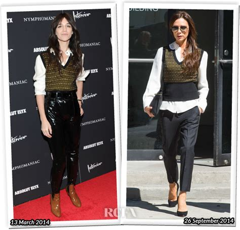 Who Wore Louis Vuitton Better Beckham Or Dita Teese by Who Wore Louis Vuitton Better Gainsbourg Or