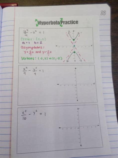 conic sections test conic section hyperbola practice algebra 2 interactive