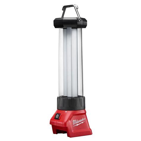 Outdoor Lighting Milwaukee Milwaukee M18 18 Volt Lithium Ion Cordless Led Lantern 2363 20 The Home Depot