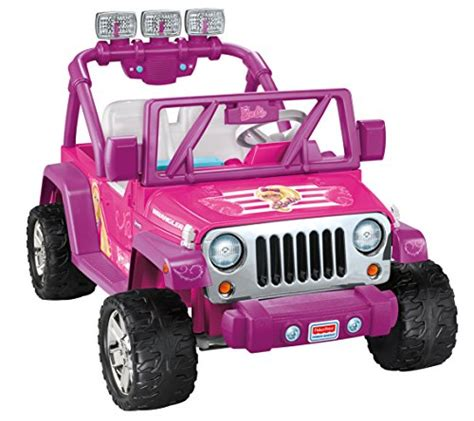 fisher price ride on toys power wheels barbie deluxe jeep