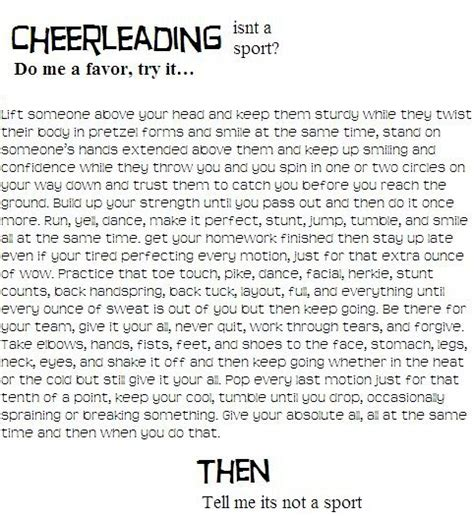 Cheerleading Is A Sport Essay by Reasons Why Cheering Is A Sport Cheer