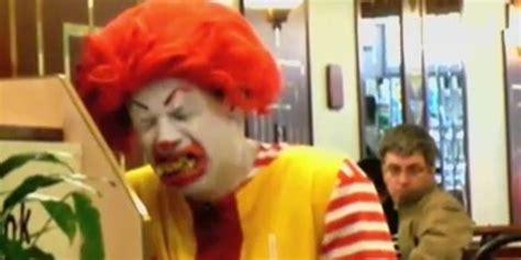 Ronald Mcdonald Phone Meme - watch eric andre s deranged ronald mcdonald prank that