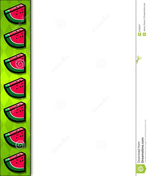 watermelon on the border watermelon slice border stock illustration illustration