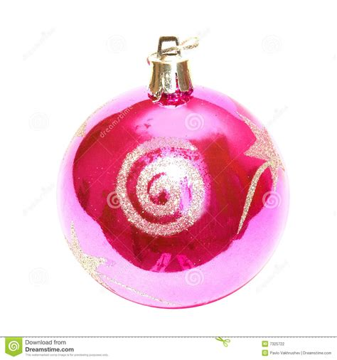 christmas baubles pink pink christmas baubles stock