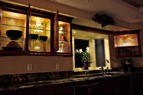 Led Lighting For Kitchen Cabinets Led Lighting Ideas For Shelves And Cabinets Birddog Lighting