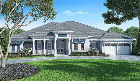 Florida Home Plans by Florida House Plan With Detached Bonus Room 86017bw