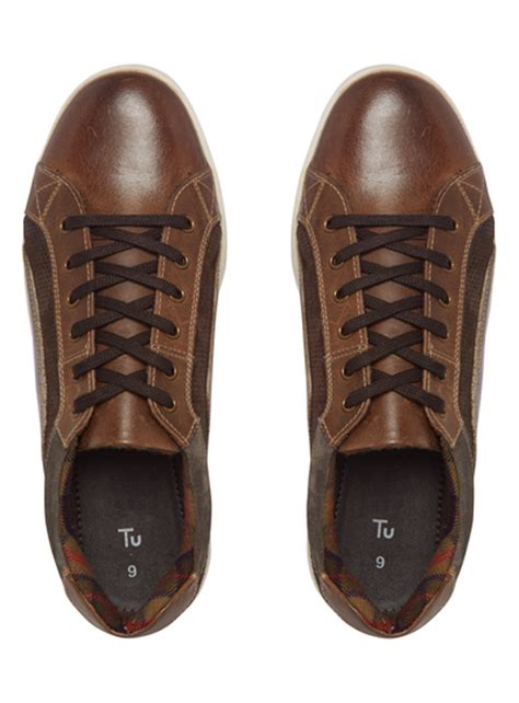sainsburys shoes mens brown casual leather shoes tu clothing