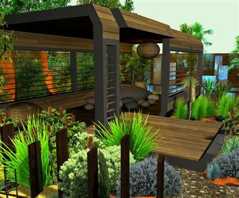 sensasi taman di atap rumah
