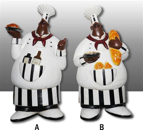 Black Chef Kitchen Decor by Black Chef Kitchen Wall Figurine Hanger Decor Complete