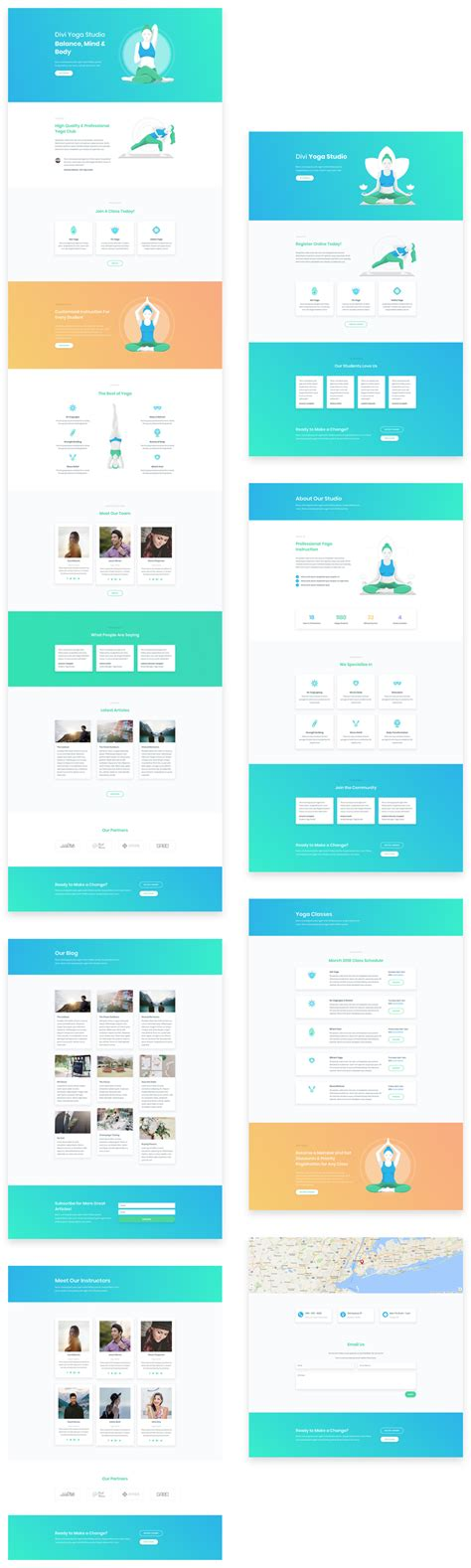 download layout divi download a free inspiring yoga layout pack for divi