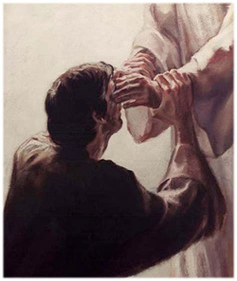 Jesus Healing Blind Talking With Jesus Writing For His Glory