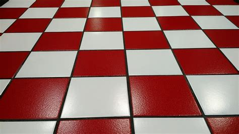 Free photo: Tile, Red, White, Floor, Glossy   Free Image