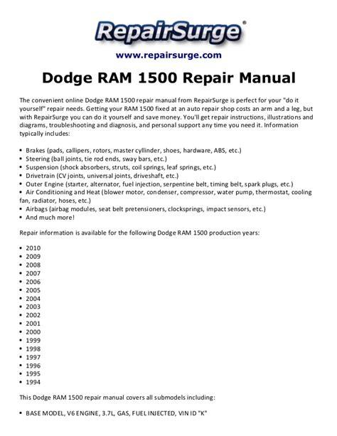 small engine repair manuals free download 2009 chrysler 300 regenerative braking dodge ram 1500 repair manual 1994 2010