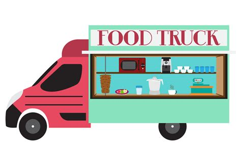 food truck illustration of food truck in vector free vector stock graphics images