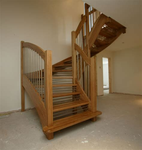 Red Oak Handrail Staircases Stairplan Manufacturers Purpose Made Wooden