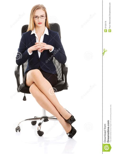 White Sitting Chair by Beautiful Business Sitting On A Chair Royalty