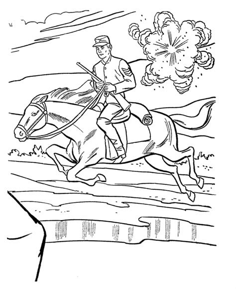 civil war coloring pages coloring home