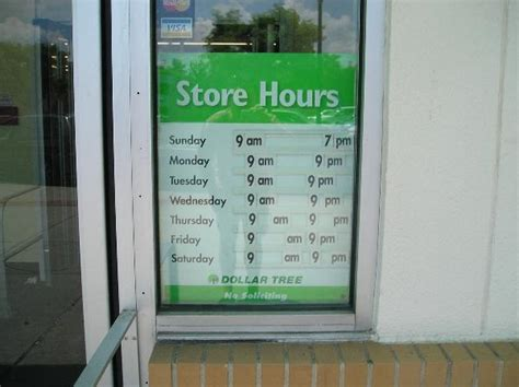 shopping hours dollar tree store hours