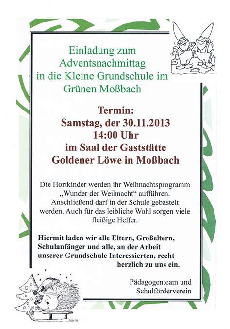 Muster Einladung Elternstammtisch November 2013 Grundschule Mo 223 Bach