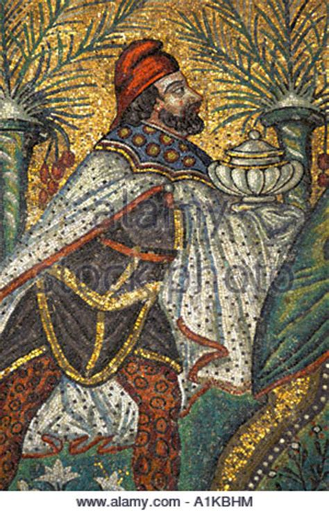 detail of mosaics, the basilica of sant' apollinare nuovo