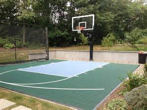 basketball court in the backyard a innovation helps keep the