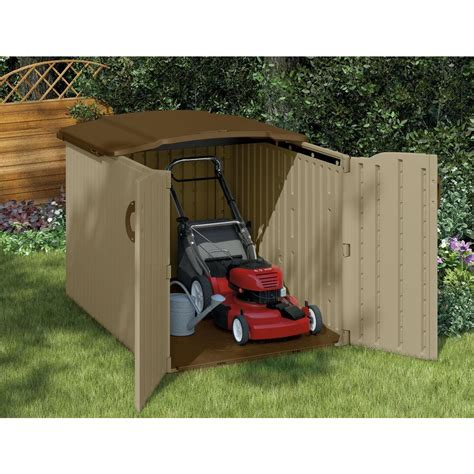 Rubbermaid Resin Slide Lid Shed by Minimalist Outdoor Design With Rubbermaid Horizontal Slide Lid Sheds 98 Cubic Storage