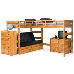 futon loft bed with underbed storage wayfair