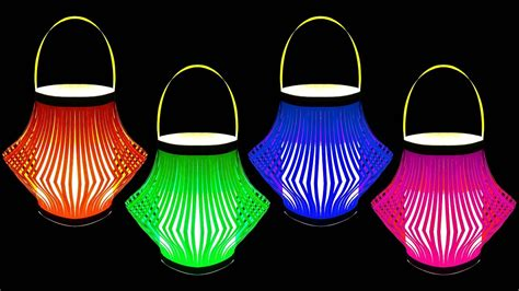 how to make a beautiful paper lantern crafts
