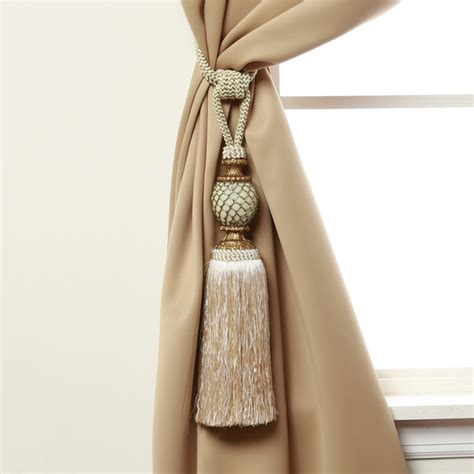how to tie curtain tassels bella tassel curtain tie back pair contemporary