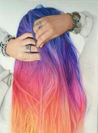 pretty colored hair 25 best ideas about dyed hair on colour