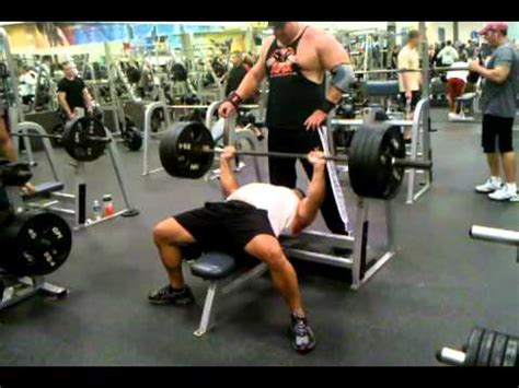 405 bench press 405 bench press 10 reps youtube