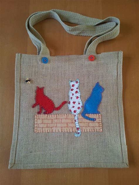 hessian tote bag pattern 199 best images about cat bags purses etc on