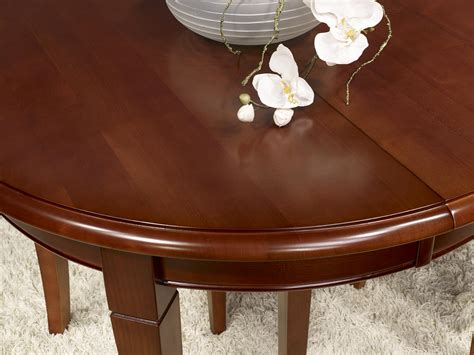 table ronde avec allonges 1276 table ronde en merisier massif de sytle louis philippe