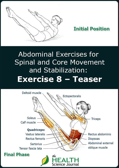 pilates teaser exercises for stabilization part 8 the health science journal
